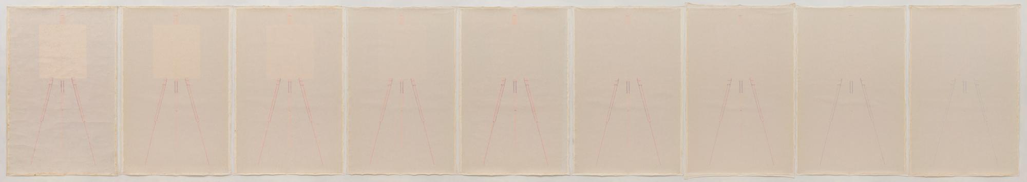 Ignazio Gadaleta, 1980, Mimesis, olio su tela, 150 x 900 cm ∼ | Milano, Intesa Sanpaolo, Caveau delle Gallerie d'Italia - Piazza Scala