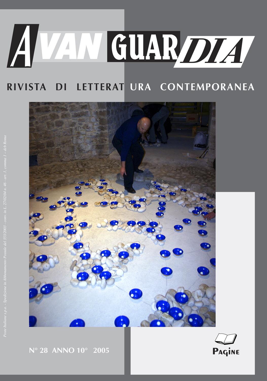 "Ignazio Gadaleta, Gadaleta. La pittura oltre la pittura, in ""Avanguardia"", n° 28, anno 10°, Roma, 2005, copertina e pp. 59-67"