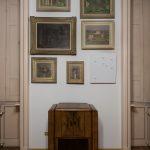 Ignazio Gadaleta, Sette punti celesti, 2015 | ambientazione realizzata per SOSTITUZIONI in casa Museo Boschi di Stefano, Milano | olio e acrilico fluo su legno, cm 61,5 x 53,5 x 6