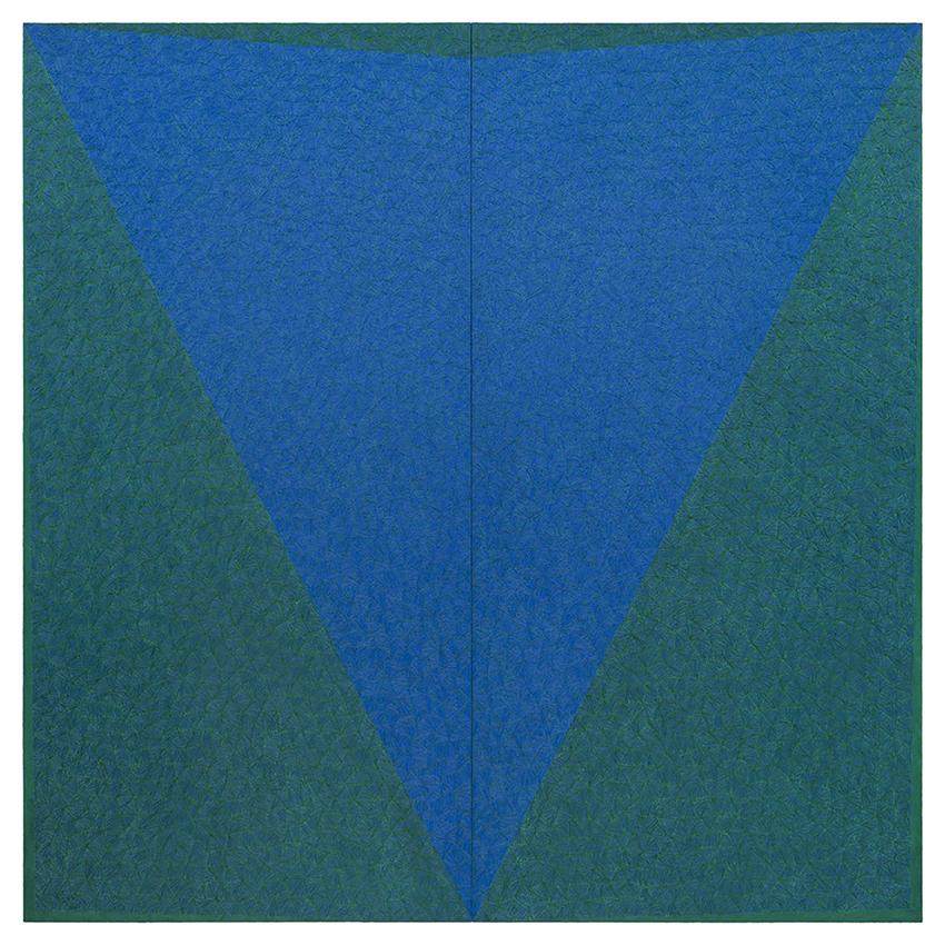 Assunzione, 1988, olio su tela, 210 x 210 x 3,5 cm | Rovereto, MART Museo di arte moderna e contemporanea di Trento e Rovereto
